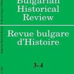 Bulgarian Historical Review 3-4 2011